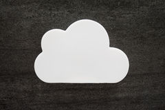 White Cloud. Abstract white puffy storm cloud Stock Images