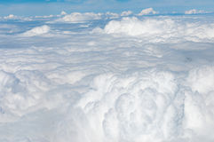 White cloud Aerial view, Cloudscape Stock Image