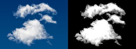 White cloud. With alpha channel Stock Photo