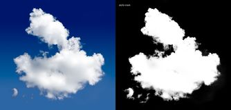 Cloud. White cloud with alpha channel royalty free stock images