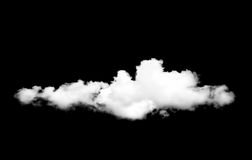 White cloud  on black. Background Stock Photo