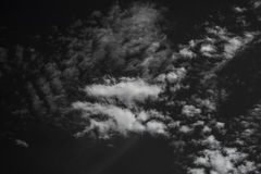 White cloud in black sky. Isolated element Royalty Free Stock Image