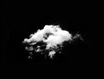White cloud in black sky Royalty Free Stock Photos