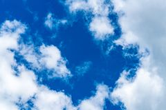 Cloud with blue sky stock image