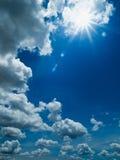 White cloud and blue sky. White clound blue sky and sun light Stock Photo