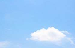 White cloud in the blue sky Stock Images