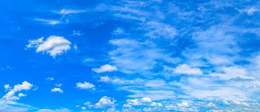 White cloud  in blue sky above the ocean royalty free stock photos