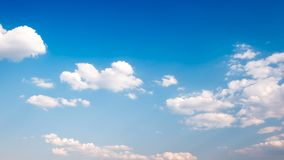 White cloud in the blue sky background royalty free stock image