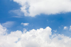 White cloud on blue sky. Background Royalty Free Stock Image