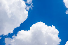 White cloud on blue sky. Background Stock Photography