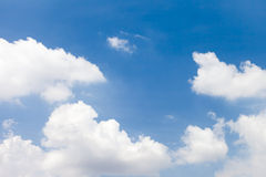 White cloud on blue sky Royalty Free Stock Images