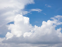 White Cloud on blue sky. White cloud on sky background Stock Photo
