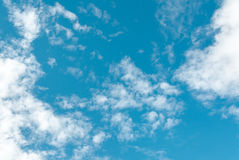 White cloud. And blue sky background  image Royalty Free Stock Photos
