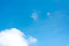 white cloud and blue sky background image Stock Photography