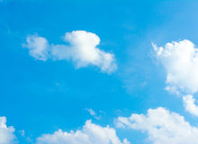 White cloud and blue sky background image.  Stock Image