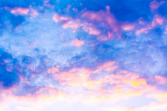 White cloud and blue sky background image.  Stock Photo