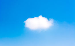 White cloud and blue sky background image.  Stock Images