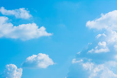 white cloud and blue sky background image Stock Photo