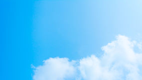 White cloud and blue sky background image.  Royalty Free Stock Photo