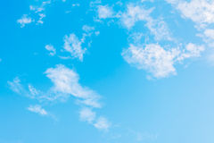 White cloud and blue sky background image.  Royalty Free Stock Image