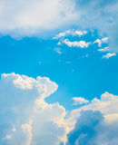 White cloud and blue sky background image.  Royalty Free Stock Images
