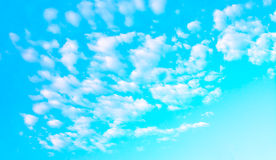 White cloud and blue sky background image.  Stock Photography