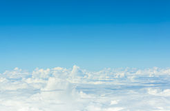 White cloud and blue sky background image Royalty Free Stock Photography