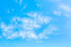 White cloud and blue sky background image.  Royalty Free Stock Photos