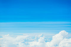 white cloud and blue sky background image Stock Image