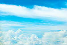 white cloud and blue sky background image Royalty Free Stock Images