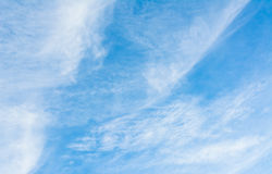 White cloud and blue sky background image.  Royalty Free Stock Photography