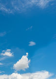 White cloud and blue sky background image Royalty Free Stock Photo