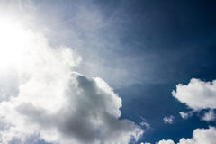 White cloud with blue sky background in nice day Stock Photos