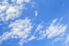 White cloud and blue sky background Royalty Free Stock Images
