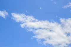 White cloud and blue sky background Stock Photography