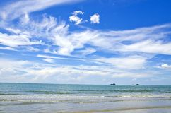 White cloud with blue sky. Stock Photo