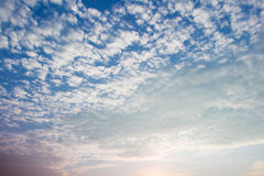 White cloud, blue sky,sun rays Royalty Free Stock Photography