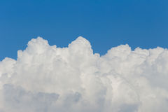 White cloud and blue sky Stock Image