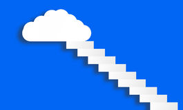 white cloud on blue sky Stock Image