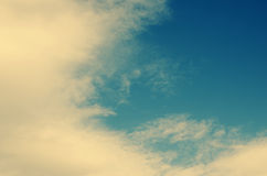 White cloud  in a blue sky Royalty Free Stock Photo
