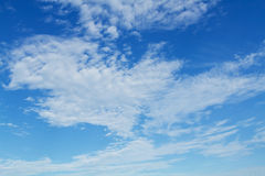 White cloud and blue sky Royalty Free Stock Images