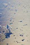 White cloud blue sky over the ocean Royalty Free Stock Image