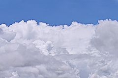 It is White cloud and blue sky. Royalty Free Stock Image
