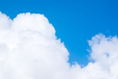 White cloud and blue sky. In summer season Royalty Free Stock Images