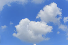 White cloud and blue sky Stock Photos