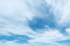 White cloud with bue sky. Blue sky and white cloud royalty free stock photography