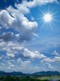 White cloud and bule sky. Sun shine White cloud and blue sky Stock Image