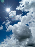 White cloud and bule sky. Sunny light White cloud and bule sky Stock Image