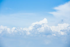 White cloud in clear sky Stock Images