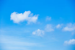 White cloud in clear sky Stock Photography